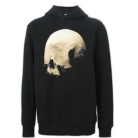GIVENCHY - big skull star print sweat parka