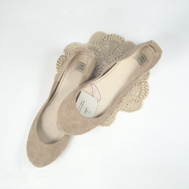 elehandmade - Blush Nude Rose Smoke Soft Leather Handmade Ballet Flats