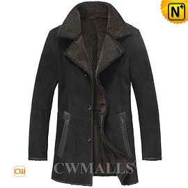 CWMALLS - London Custom Black Merino Sheepskin Coat CW818568 | CWMALLS.COM