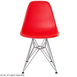 Vitra - Eames Shell Side Chair DSR Chrome Base Red