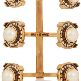 Alexander McQueen - Gold-tone, faux pearl and crystal cuff