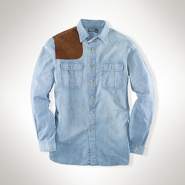 RALPH LAUREN - Custom Suede Patch Chambray