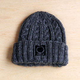 山と道 - YAK Wool Knit Cap Gray