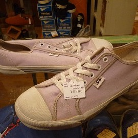 "vans - 「<used>90's vans PLIMSOLL lightpurple""made in USA"" size:US8/h(26.5cm) 6800yen」完売"