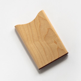 TRACE - CARD CASE maple