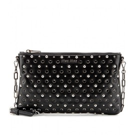 miu miu - EMBELLISHED LEATHER CLUTCH