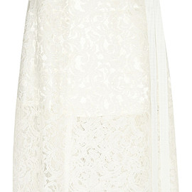 sacai luck - lace wrap skirt