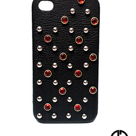 GOD BLESS U - GOD BLESS U iPhone4/4S studded siamstone+Leather CASE【D.V.L. LIMITED】