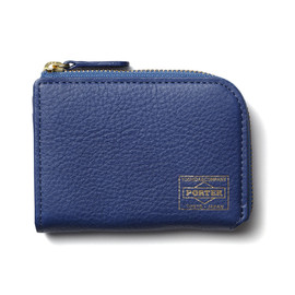 "HEAD PORTER - ""CALVI"" COIN CASE BLUE"