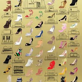 Pop Chart Lab design team - The many shoes of Carrie Bradshaw's closet