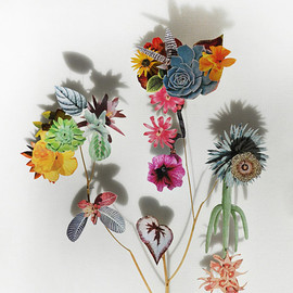 Anne Ten Donkelaar - Flower Constructions by artist Anne Ten Donkelaar