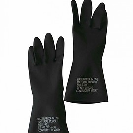 VOIRY STORE - RUBBER GLOVES-A BLACK