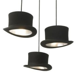 Rockett St George - Jeeves & Wooster Top Hat Pendant Lights - Wooster Black/Silver