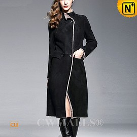 CWMALLS - CWMALLS® Reversible Shearling Trench Coat CW652132