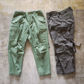 kolor - kolor/BEACON / 40/3 Cotton Serge Cropped Cargo Pants