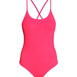 H&M - Neon Coral Swimsuit