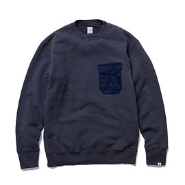 HEAD PORTER PLUS - POCKET SWEATSHIRT NAVY