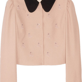miu miu - Dog-motif cropped crepe jacket