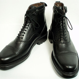 foot the coacher - STRAIGHT TIP BOOTS