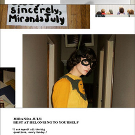 "MONO KULTUR - #16,""Miranda July"" Best at Belonging to Yourself, 2008"