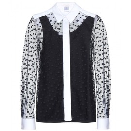 Chloé - EMBROIDERED POLKA-DOT TULLE BLOUSE