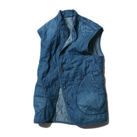 SOPHNET. - SOPHNET. LIGHT OUNCE DENIM QUILTING VEST (DAMAGED)