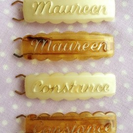 Love Letter - 【Vintage】1940s-50s Name  Hair Barrette Set/B