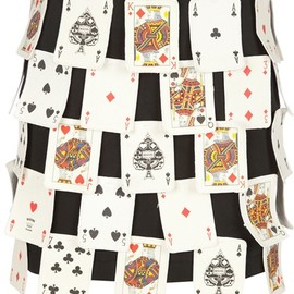 MOSCHINO - Vintage 3D playing card skirt