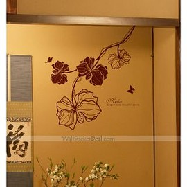 wallstickerdeal.com - Elegant And Beautiful Aselia With Butterfly Wall Sticker