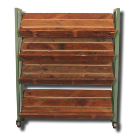 Reclaimed Works - Utility Reclaimed Shelf Rack - Mills Green -