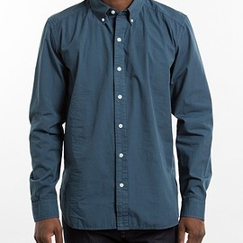 STUSSY - Overdyed Poplin Oxford - Navy