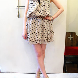 Unsqueaky - Dot Gather Dress