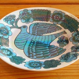 "Arabia - obal plate ""bird"""