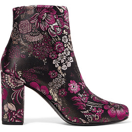 SAINT LAURENT - Babies brocade ankle boots