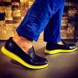 Cole Haan - Lunargrand Penny Loafer - Yellow Lunar Sole