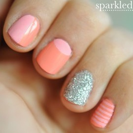sparkly nail tutorial