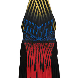 ALEXANDER WANG - SS2015 Lacquer Hazard Racer Back Dress With Accordion Pleated Drape