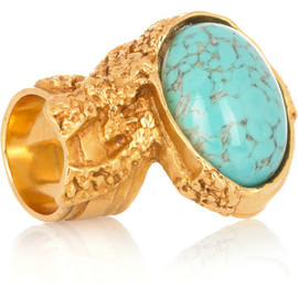 Yves Saint Laurent - Gold-plated ring - turquoise