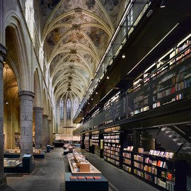 Old Church Converted into a Modern Bookstore