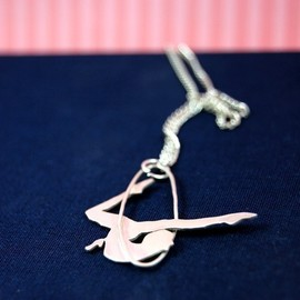 MarKhed - Circus Trapeze Artist Sterling Silver Pendant