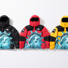 Supreme, THE NORTH FACE - Statue of Liberty Baltoro Jacket with packable hood.