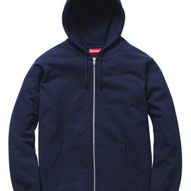 Supreme - Logo Tape Zip Up Hoody