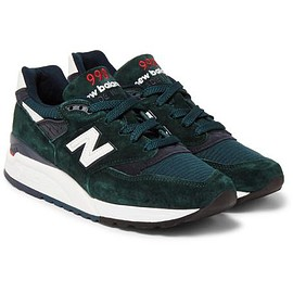 New Balance - 998 Suede and Mesh Sneakers