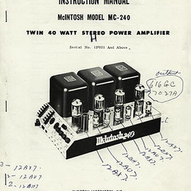 McIntosh - MC-240 power amp