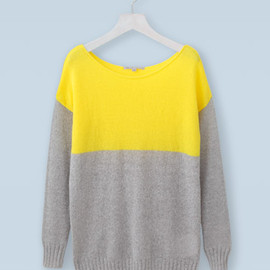 GAP - Boat Neck Color Block Sweater