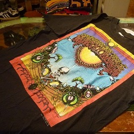 """FRUIT OF THE LOOM - 「<used>'90 GRATEFUL DEAD""""AOXOMOXOA""""T-SHIRT black""""made in USA"""" size:M 9800yen」完売"""