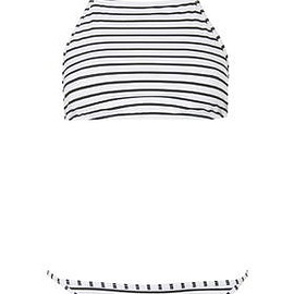 TOPSHOP - Striped High Neck Bikini Set