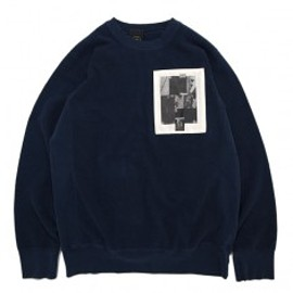 BRAIN DEAD - REVERSE FRENCH TERRY CREWNECK Navy