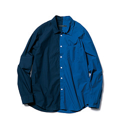SOPHNET. - SPLIT REGULAR COLLAR SHIRT
