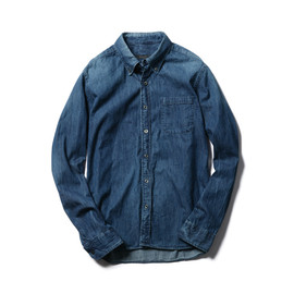 SOPHNET. - DENIM B.D SHIRT (DAMAGED)